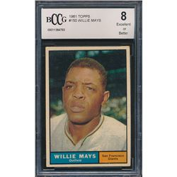 Willie Mays 1961 Topps #150 (BCCG 8)