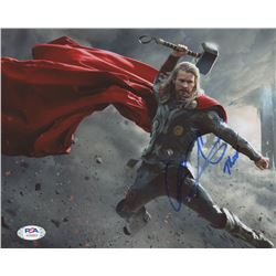 "Chris Hemsworth Signed ""Thor"" 8x10 Photo Inscribed ""Thor"" (PSA Hologram)"