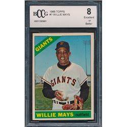 Willie Mays 1966 Topps #1 (BCCG 8)