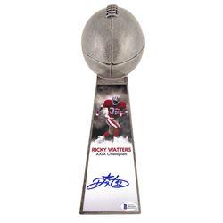 "Ricky Watters Signed 49ers 15"" Lombardi Football Championship Trophy (Beckett COA)"