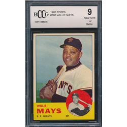 Willie Mays 1963 Topps #300  (BCCG 9)