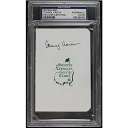 Tommy Aaron Signed Augusta National Golf Club Scorecard (PSA Encapsulated)