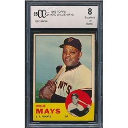 Willie Mays 1963 Topps #300 (BCCG 8)