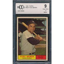 Yogi Berra 1961 Topps #425 (BCCG 9)