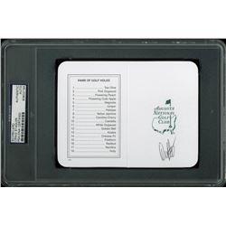 Craig Stadler Signed Augusta National Golf Club Scorecard (PSA Encapsulated)