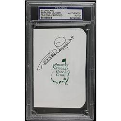 Bernard Langer Signed Augusta National Golf Club Scorecard (PSA Encapsulated)