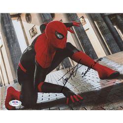 """Tom Holland Signed """"Spider-Man: Homecoming"""" 8x10 Photo Inscribed """"Spder-Man"""" (PSA Hologram)"""