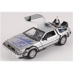 """Christopher Lloyd Signed """"Back to the Future II"""" DeLorean Time Machine 1:24 Scale Die-Cast Car (Beck"""
