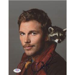 "Chris Pratt Signed ""Guardians of the Galaxy"" 8x10 Photo (PSA Hologram)"