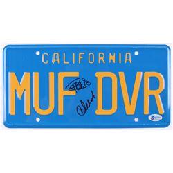 "Cheech Marin  Tommy Chong Signed ""Up in Smoke"" License Plate (Beckett COA)"