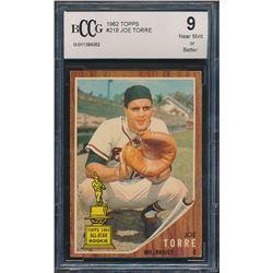 Joe Torre 1962 Topps #218 RC (BCCG 9)