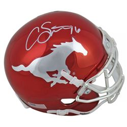 Courtland Sutton Signed Broncos Chrome Mini Helmet (Beckett COA)