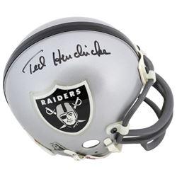 Ted Hendricks Signed Raiders Mini Helmet (Beckett COA)