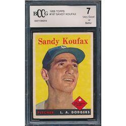 Sandy Koufax 1958 Topps #187 (BCCG 7)
