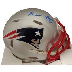 N'Keal Harry Signed Patriots Speed Mini Helmet (Beckett COA)