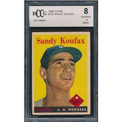 Sandy Koufax 1958 Topps #187 (BCCG 8)