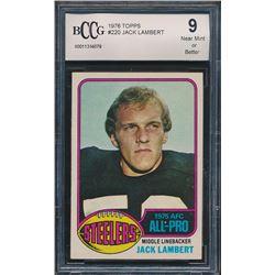 Jack Lambert 1976 Topps #220 All Pro RC (BCCG 9)