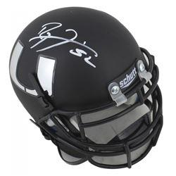 Ray Lewis Signed Miami Hurricanes Matte Black Mini-Helmet (Beckett COA)