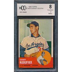 Sandy Koufax 1963 Topps #210 (BCCG 8)