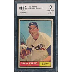 Sandy Koufax 1961 Topps #344 (BCCG 9)