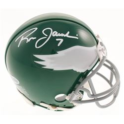 Ron Jaworski Signed Eagles Throwback Mini-Helmet (Beckett COA)