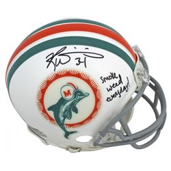 "Ricky Williams Signed Dolphins Throwback Mini Helmet Inscribed ""Smoke Weed Everyday!"" (JSA COA)"