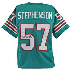 "Dwight Stephenson Signed Jersey Inscribed ""HOF 98"" (Beckett COA)"
