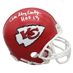 "Curley Culp Signed Chiefs Mini Helmet Inscribed ""HOF 13"" (Beckett COA)"