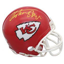 Christian Okoye Signed Chiefs Mini Helmet (Beckett COA)