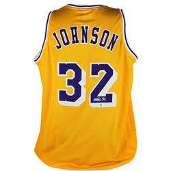Magic Johnson Signed Jersey (Beckett COA)