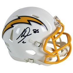Antonio Gates Signed Chargers Color Rush Speed Mini Helmet (Beckett COA)