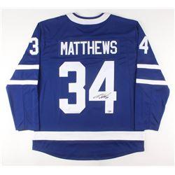 Auston Matthews Signed Toronto Maple Leafs Fanatics Jersey (Fanatics Hologram)