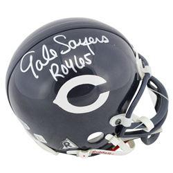 "Gale Sayers Signed Bears Mini Helmet Inscribed ""ROY 65"" (Beckett COA)"