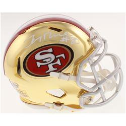 Jerry Rice Signed 49ers Chrome Speed Mini Helmet (Beckett COA)