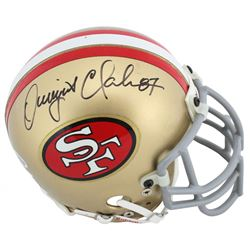 Dwight Clark Signed 49ers Mini Helmet (Beckett COA)