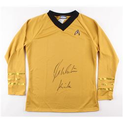 "William Shatner Signed ""Star Trek"" Uniform Shirt Inscribed ""Kirk"" (Beckett COA)"
