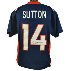 Courtland Sutton Signed Jersey (Beckett COA)
