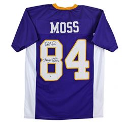 "Randy Moss Signed Jersey Inscribed ""Straight Cash Homie"" (Beckett COA)"