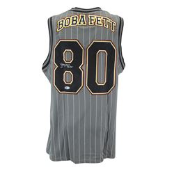 "Jeremy Bulloch Signed ""Star Wars"" Boba Fett Basketball Jersey Inscribed ""Boba Fett"" (Beckett COA)"