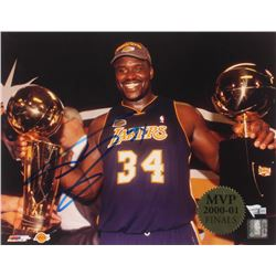 Shaquille O'Neal Signed Lakers 2000-01 NBA Finals MVP 11x14 Photo (Fanatics Hologram)