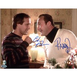"Chevy Chase  Randy Quaid Signed ""National Lampoon's Christmas Vacation"" 11x14 Photo (Beckett COA  Ch"