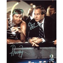 "Chevy Chase  Randy Quaid Signed ""Vegas Vacation"" 11x14 Photo (Beckett COA  Chase Hologram)"