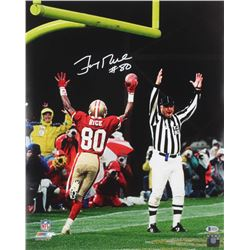 Jerry Rice Signed 49ers 16x20 Photo (Beckett COA)