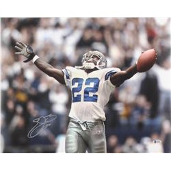 Emmitt Smith Signed Cowboys 16x20 Photo (Beckett COA)