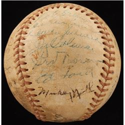1955 New York Yankees American League Champions Baseball Team-Signed by (24) with Yogi Berra, Phil R