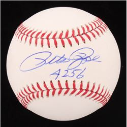 "Pete Rose Signed OML Baseball Inscribed ""4,256"" (Rose Hologram)"
