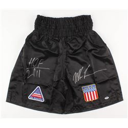 "Mike Tyson Signed Boxing Trunks Inscribed ""HOF 2011"" (PSA COA)"