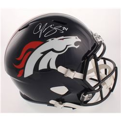 Champ Bailey Signed Broncos Full-Size Speed Helmet (JSA COA)
