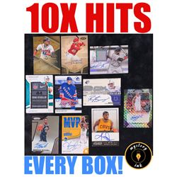 Mystery Ink 10X Hits Mystery Box - 10 Autos / Jerseys / Relics Cards in Every Box!