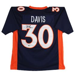 "Terrell Davis Signed Jersey Inscribed ""HOF 17"" (Beckett COA)"
